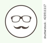 glasses and mustaches  vector... | Shutterstock .eps vector #423511117
