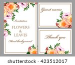 abstract flower background with ... | Shutterstock .eps vector #423512017