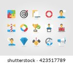 business icon set  colorful... | Shutterstock .eps vector #423517789