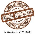natural antioxidants. stamp | Shutterstock .eps vector #423517891
