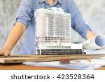 architecture show her model... | Shutterstock . vector #423528364