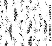vector seamless floral pattern... | Shutterstock .eps vector #423529951
