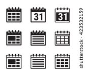 calendar icons set. | Shutterstock .eps vector #423532159