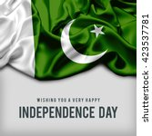 celebrating pakistan... | Shutterstock . vector #423537781