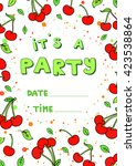 summer party design poster ... | Shutterstock .eps vector #423538864