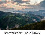 evening in carpathian mountains | Shutterstock . vector #423543697