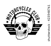 motorcycle club vintage labels  ... | Shutterstock .eps vector #423548761