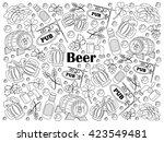beer design colorless set... | Shutterstock . vector #423549481