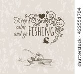 an image of a fisherman sitting ... | Shutterstock .eps vector #423551704