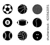 collection of sport ball icon... | Shutterstock .eps vector #423562051