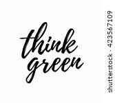 think green lettering hand... | Shutterstock .eps vector #423567109