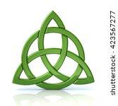 green celtic trinity knot... | Shutterstock . vector #423567277