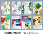 cover design set   vector... | Shutterstock .eps vector #423578017