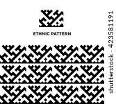 ethnic geometric seamless... | Shutterstock .eps vector #423581191