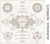 design elements set. vector... | Shutterstock .eps vector #423582271