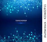 blue color technology background   Shutterstock .eps vector #423602911