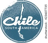 chile south america country... | Shutterstock .eps vector #423607735