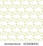 leafs seamless vector floral... | Shutterstock .eps vector #423608431
