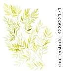 watercolor yellow wood... | Shutterstock . vector #423622171