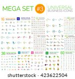 logo mega collection  abstract... | Shutterstock .eps vector #423622504