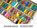 group of pastel chalk of... | Shutterstock . vector #423631387
