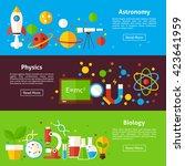 astronomy physics biology... | Shutterstock .eps vector #423641959