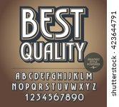 retro styled set of alphabet... | Shutterstock .eps vector #423644791