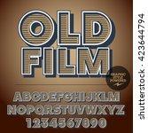 retro styled set of alphabet...   Shutterstock .eps vector #423644794