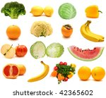 collage from fruits and...   Shutterstock . vector #42365602