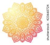 vector beautiful mandala.... | Shutterstock .eps vector #423660724