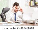 portrait of a young businessman ... | Shutterstock . vector #423678931