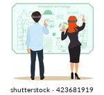 new virtual technologies.... | Shutterstock .eps vector #423681919