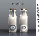 realistic vector  ceramic ... | Shutterstock .eps vector #423682225