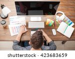young man doing some design... | Shutterstock . vector #423683659
