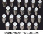 fine grater kitchen utensil...   Shutterstock . vector #423688225