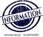 information rubber seal | Shutterstock .eps vector #423694309