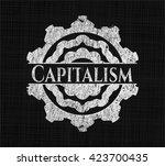 capitalism written with... | Shutterstock .eps vector #423700435