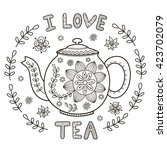 I Love Tea Vector Illustration...