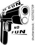 pistol 1911 gun fire. 45... | Shutterstock .eps vector #423702739