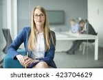 modern business woman in the... | Shutterstock . vector #423704629