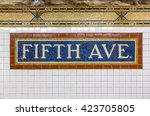Mosaic Sign At The Fifth Avenu...