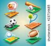 sport equipment | Shutterstock .eps vector #423714685