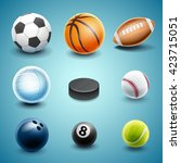 set icons for sport | Shutterstock .eps vector #423715051