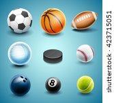 set icons for sport | Shutterstock .eps vector #423715051