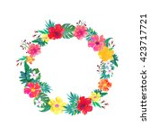 vector floral frame. beautiful... | Shutterstock .eps vector #423717721