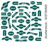 sale icon set  graphic design... | Shutterstock .eps vector #423730465