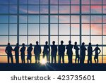group of businesspeople in row | Shutterstock . vector #423735601