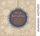 retro christmas card | Shutterstock .eps vector #42374203