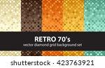 "diamond background set ""retro... | Shutterstock .eps vector #423763921"