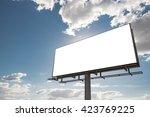 billboard   empty billboard in...   Shutterstock . vector #423769225
